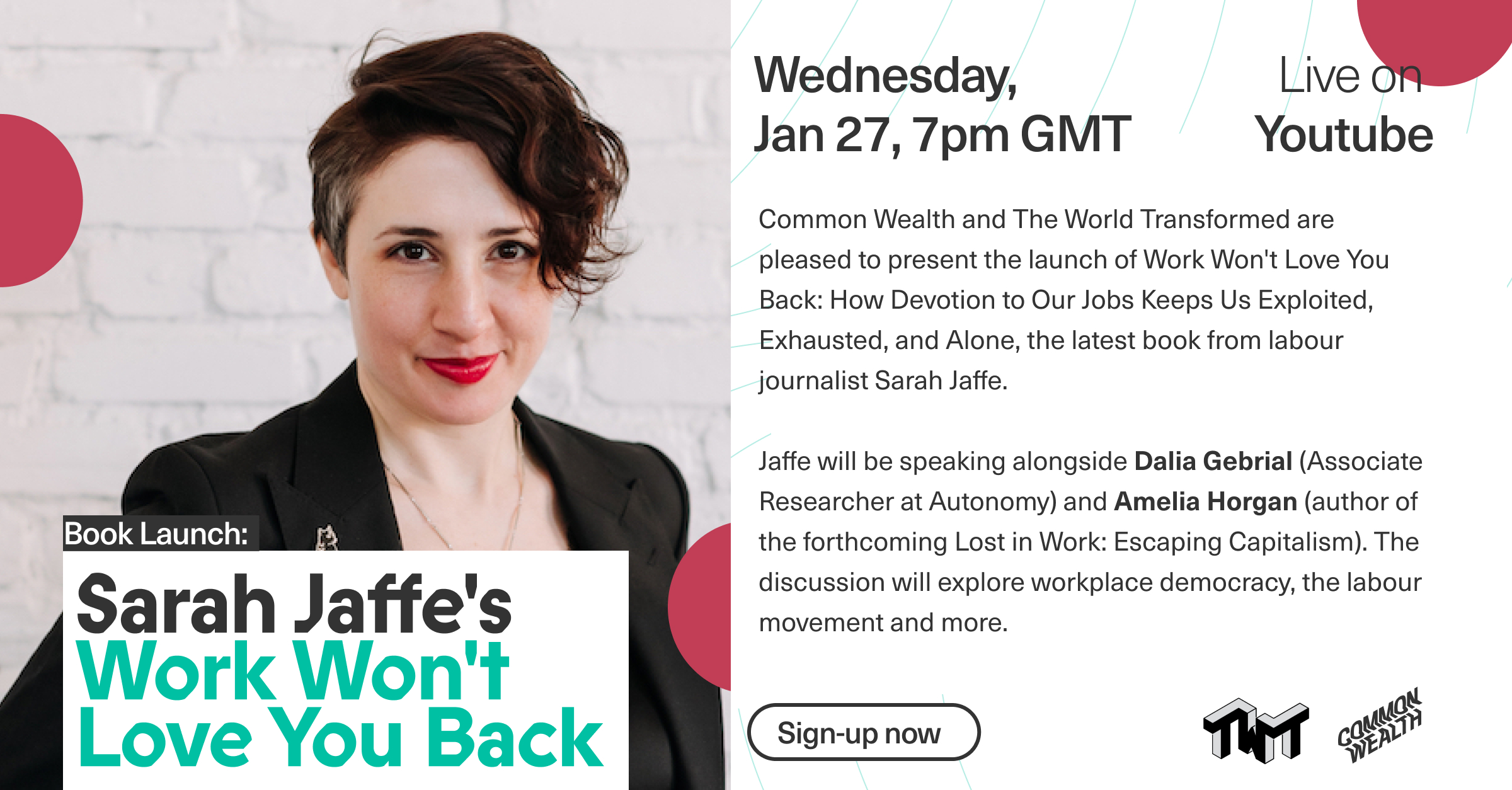 BOOK LAUNCH! 'Work Won't Love You Back' by Sarah Jaffe